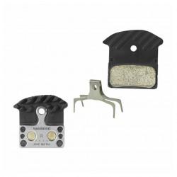 Brzdové desky Shimano J04C Y8LW98030, s chladičem, Kovové, blistr