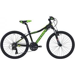 Kolo MAXBIKE Pindos 24 2020 černý matný + zelená - žlutá