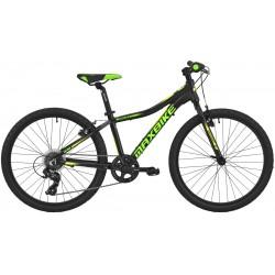 Kolo MAXBIKE Denali 24 2020 černý matný + zelená - žlutá