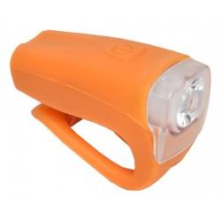 Světlo přední PROFIL JY-378FU silicon 3W USB oranžové nabíjecí