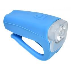 Světlo přední PROFIL JY-378FU silicon 3W USB modré nabíjecí