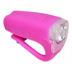 Světlo přední PROFIL JY-378FU silicon 3W USB růžové nabíjecí