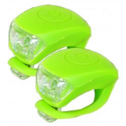 Sada silikonových blikaček MAXBIKE JY-267, zelené