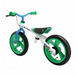 Odrážedlo TRAINING BIKE CC zeleno/bílo/modrá,Alu,bubnová brzda